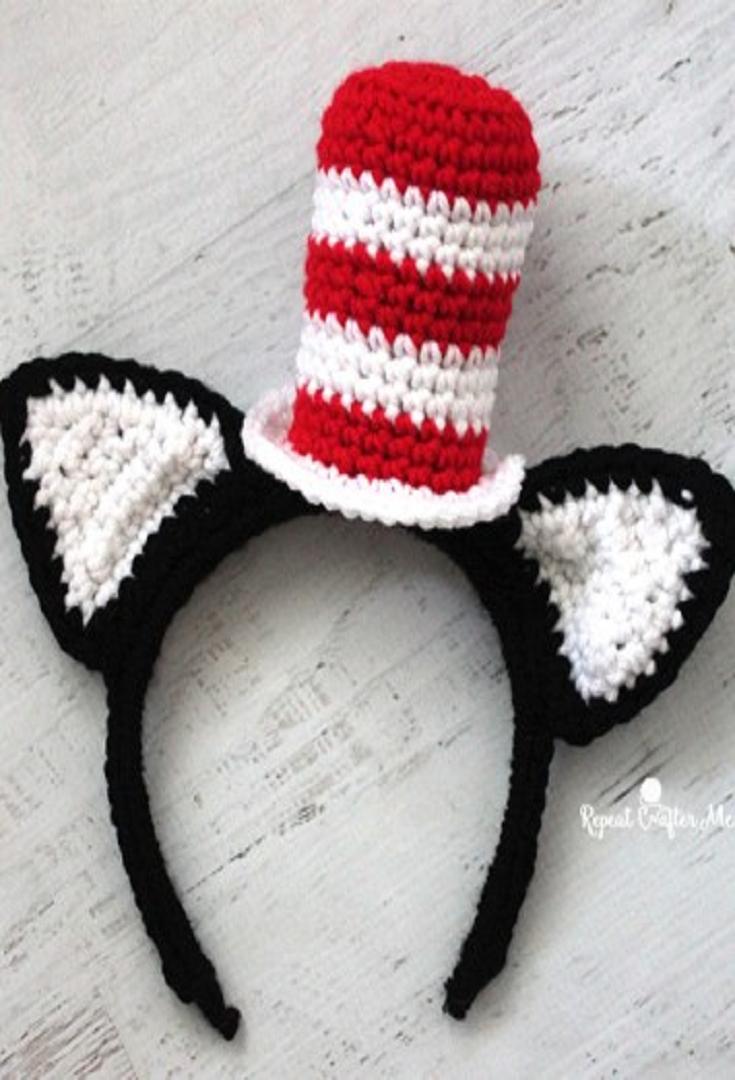 Crochet cat in the hat headband pattern by repeat crafter me crochet cat in the hat headband pattern by repeat crafter me bankloansurffo Gallery