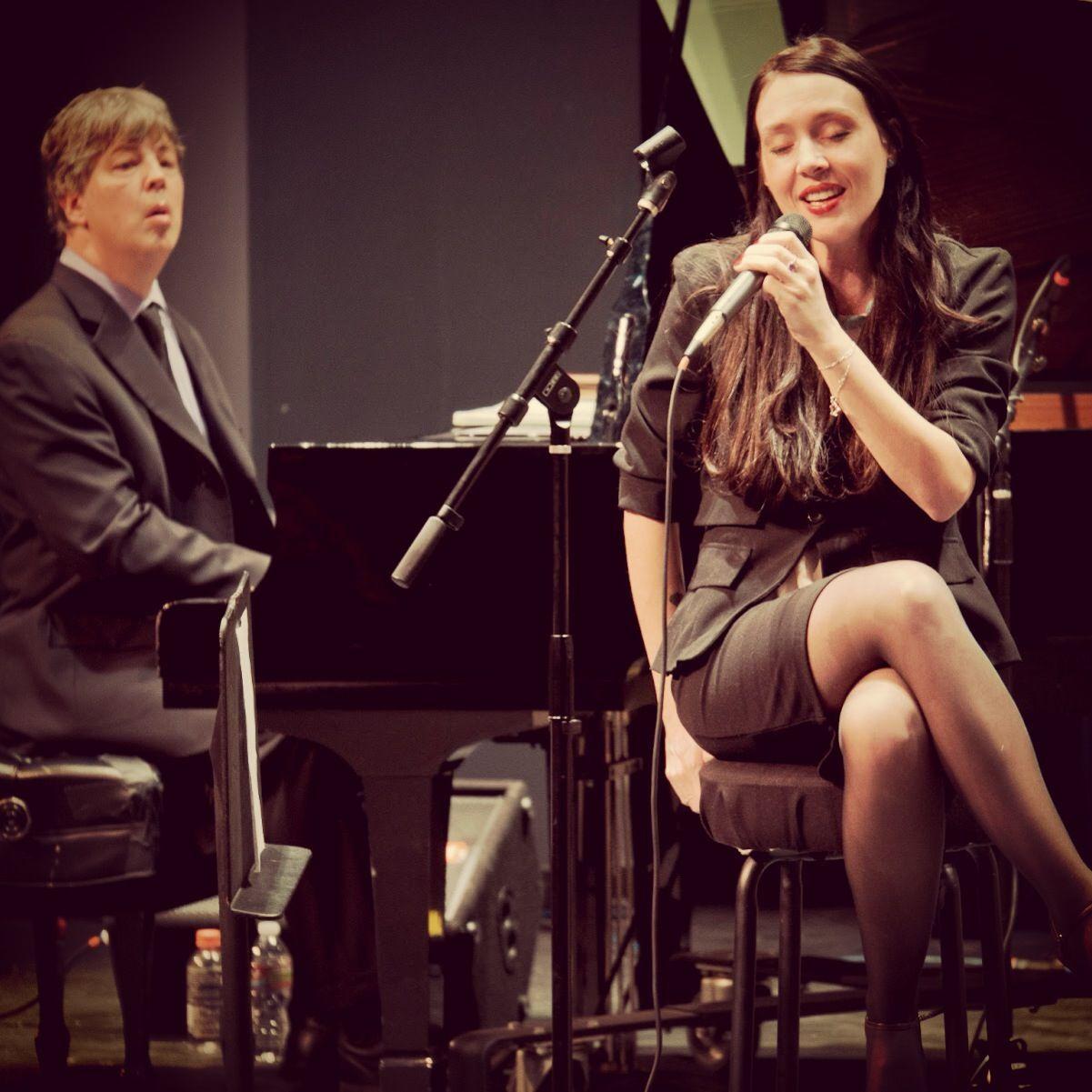 Winterlude jazz festival Megan Birdsall vocals with Wayne Hawkins piano : so good!
