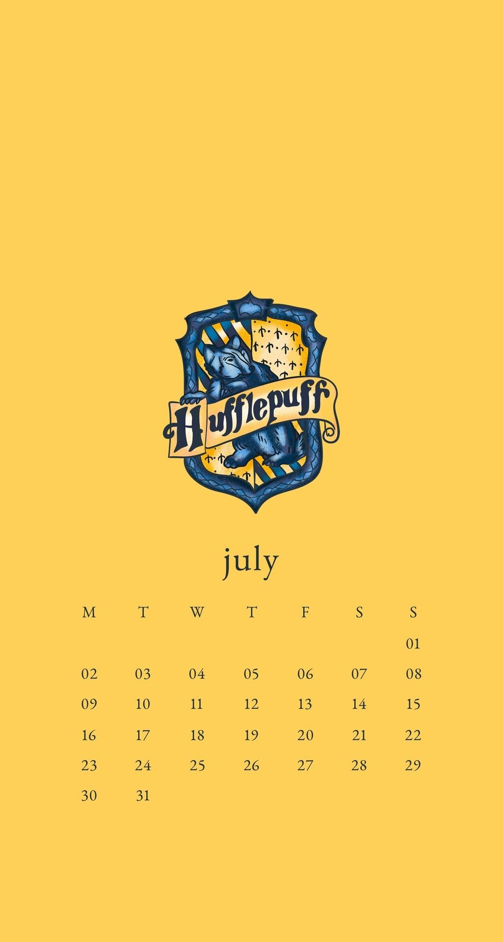 July 2018 Calendar Wallpaper Phone Harry Potter Hogwarts Hufflepuff Calendar Wallpaper Harry Potter Wallpaper Harry Potter Hufflepuff