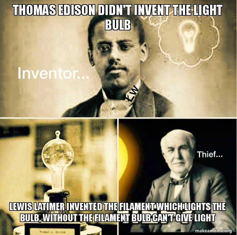 Lewis Latimer (1848–1928) invented an important part of the light ...:Lewis Latimer http://blackinventor.com/lewis-latimer/,Lighting
