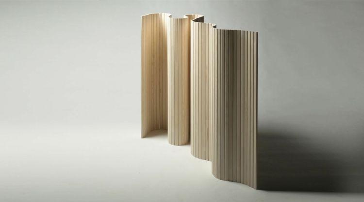 Paravent bois et cloison pour diviser les zones de vie avec style - store bois tisse exterieur