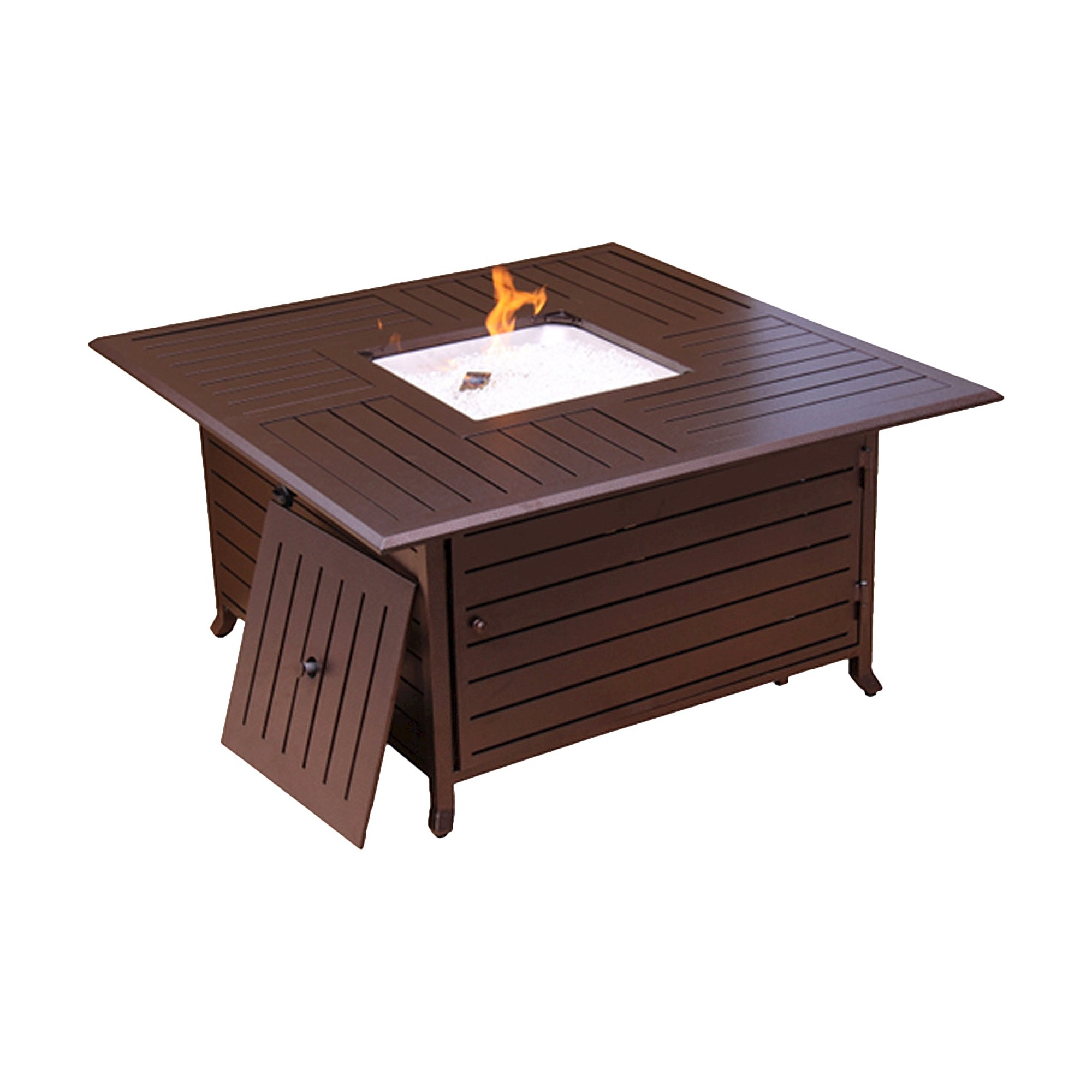 Square slatted aluminum firepit bronze squares and products