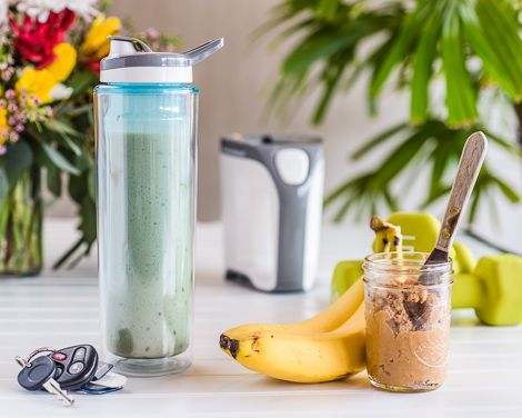 Go Sport Peanut Butter and Banana Smoothie