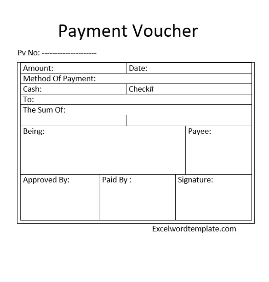 Voucher Templates Excel Word Templates Voucher Template Free Voucher Word Template
