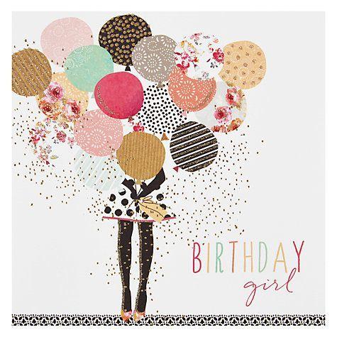 Kaufen Sie Die Portfolio Balloon Girl Geburtstagskarte Online Bei