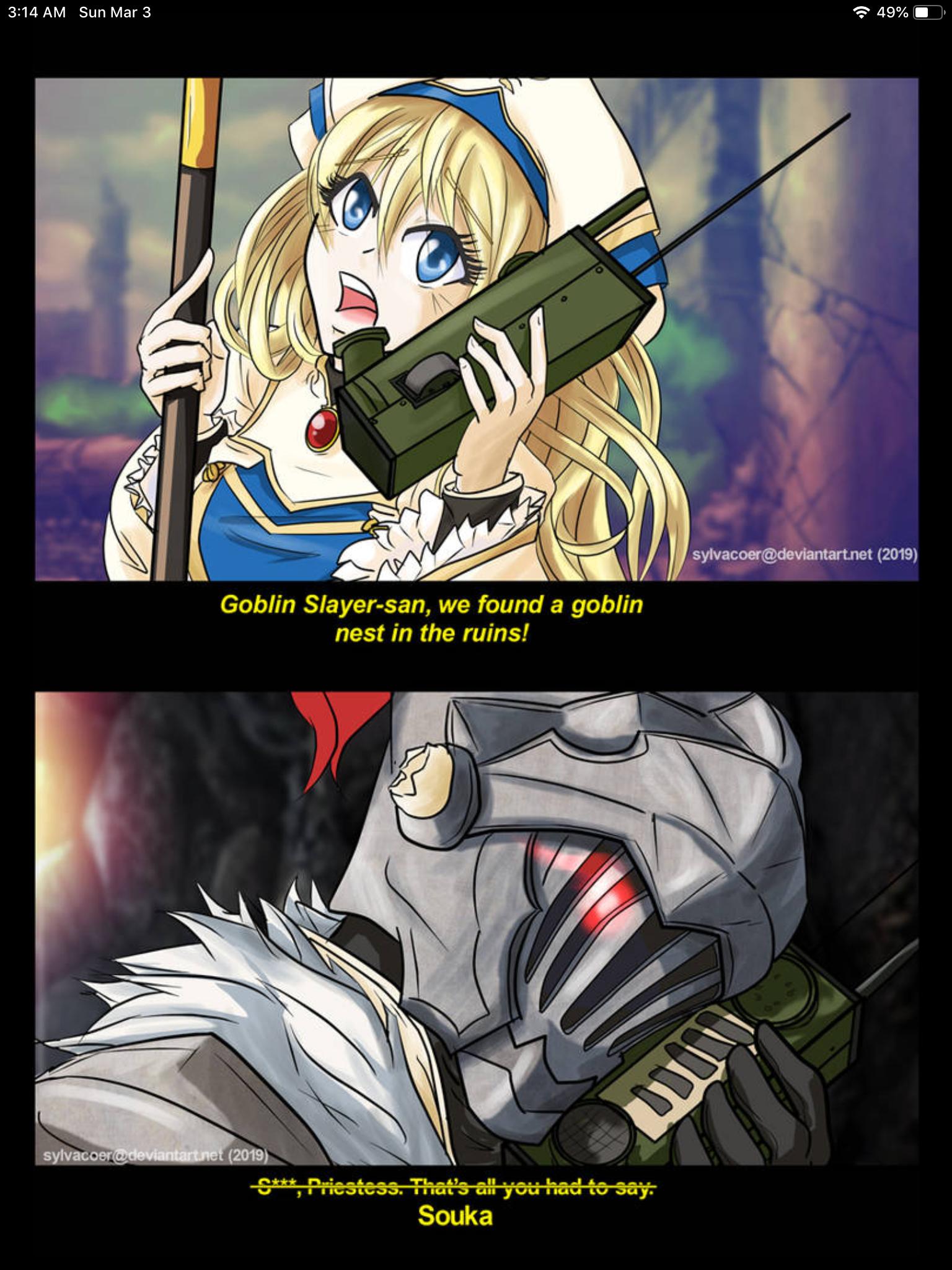 Goblin Slayer image by Hayame Anime funny, Anime memes