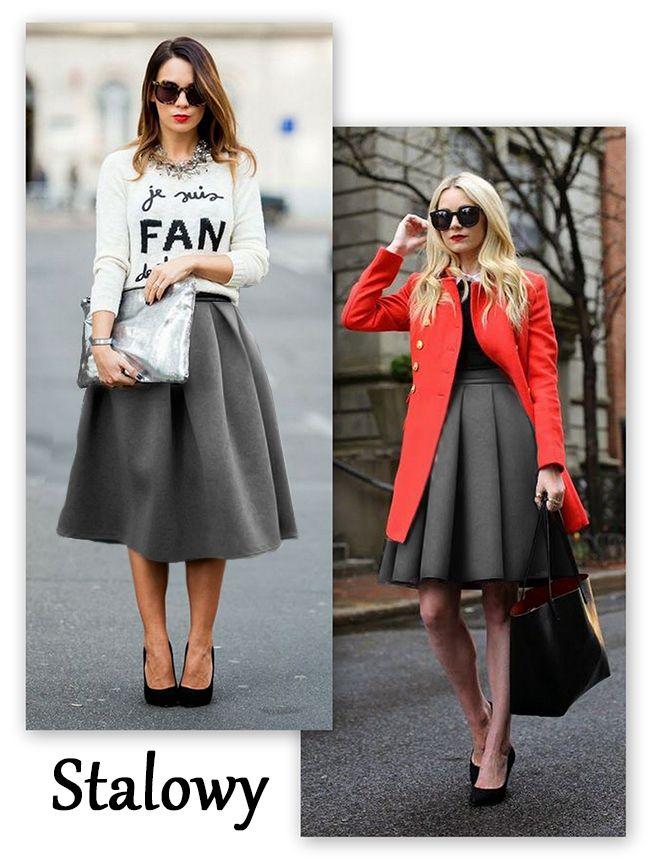 Rozkloszowana Spodnica Midi Za Kolano Jesien P926 4601018662 Oficjalne Archiwum Allegro Fashion Style Fashon