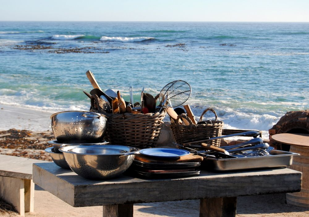 Cooking on the beach!