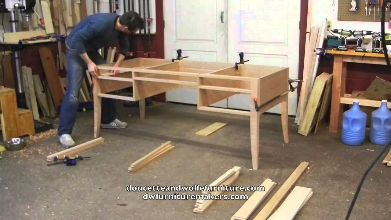 Modern Furniture Workshop writing desk building processdoucette and wolfe furniture