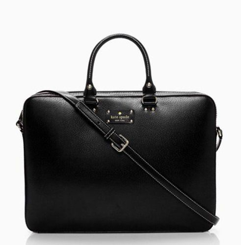 KATE SPADE Wellesley TANNER Laptop Case Computer Bag BLACK