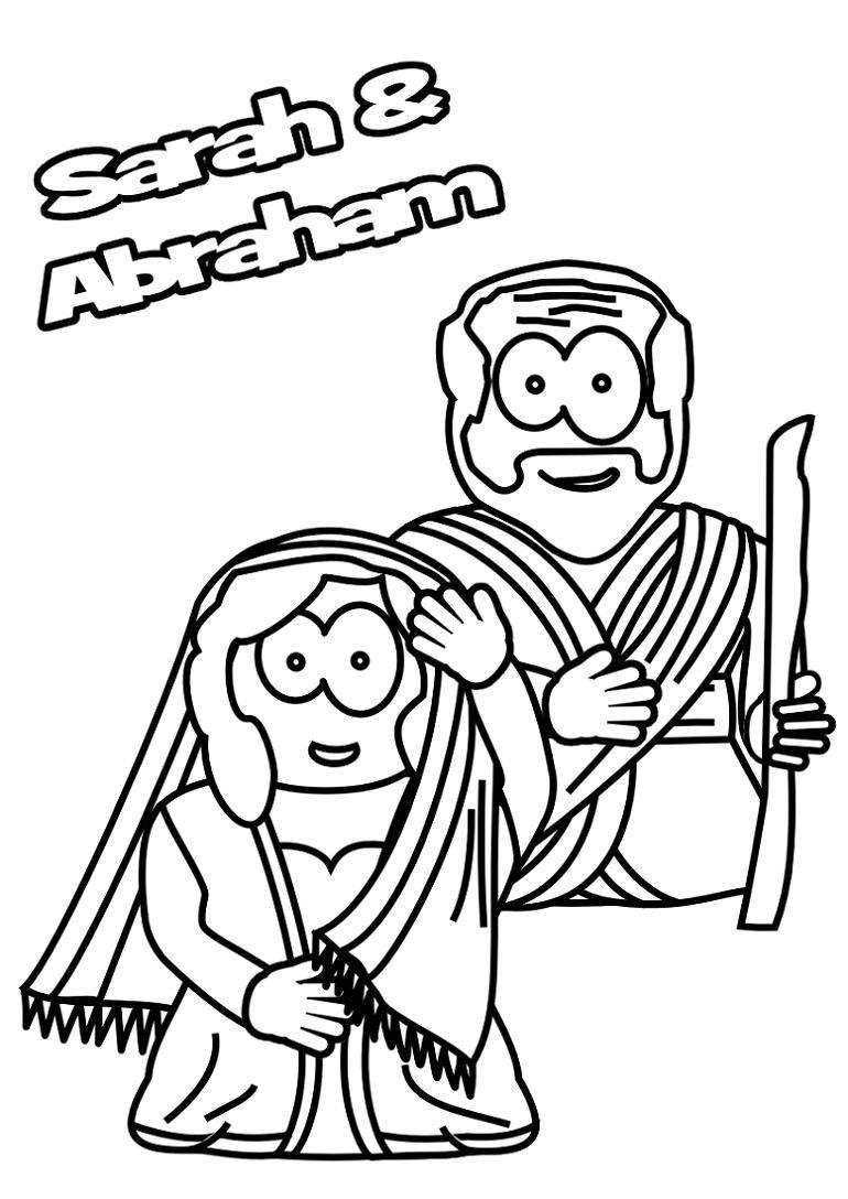 Coloring Page Abraham And Sarah   Abraham and sarah