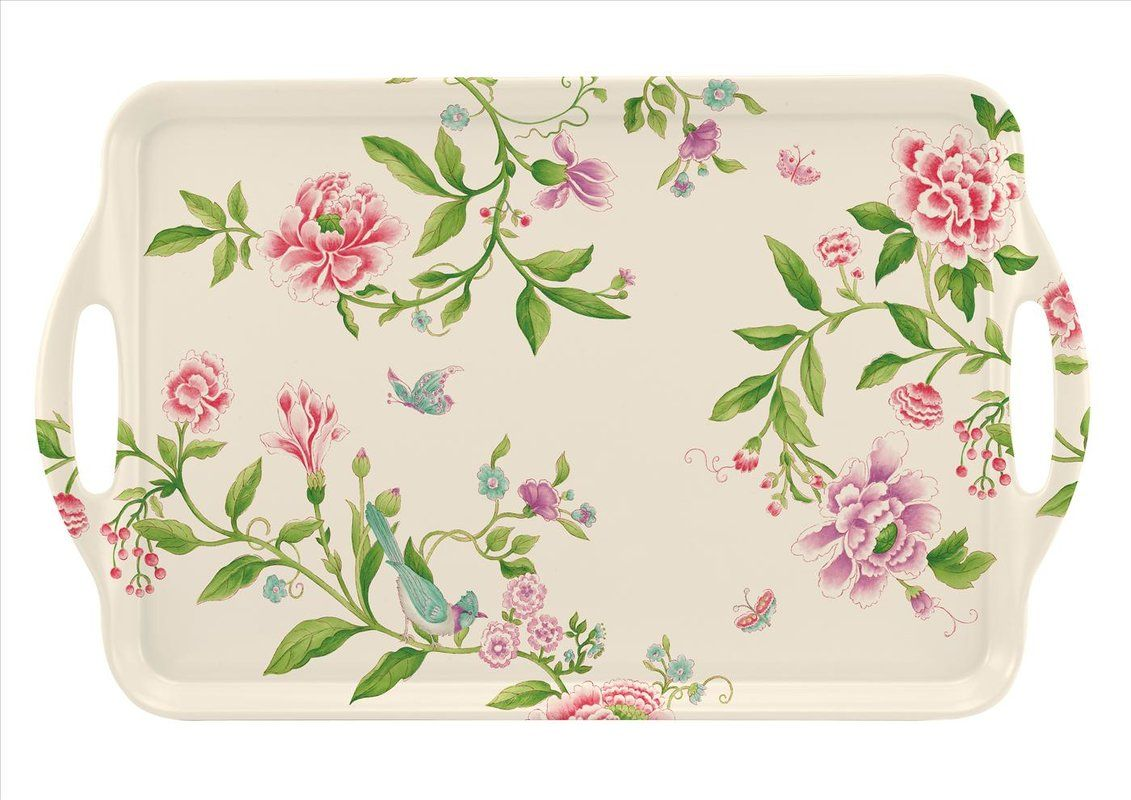 Large Melamine Rectangular Serving Tray With Handle Serving Trays