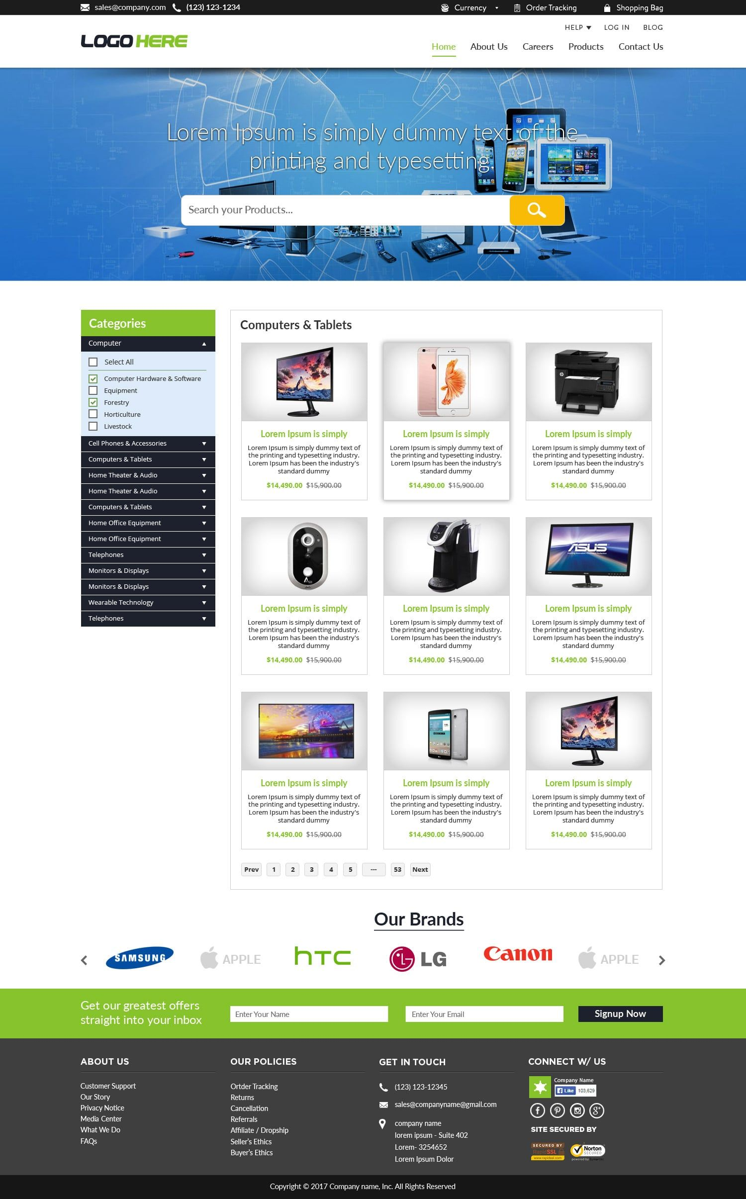 website free ecommerce website templates