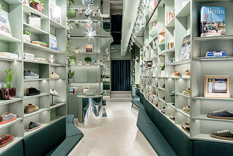 Architects Display Sneakers Like Books In A Madrid Showroom Showroom Design Interior Design Studio Interior