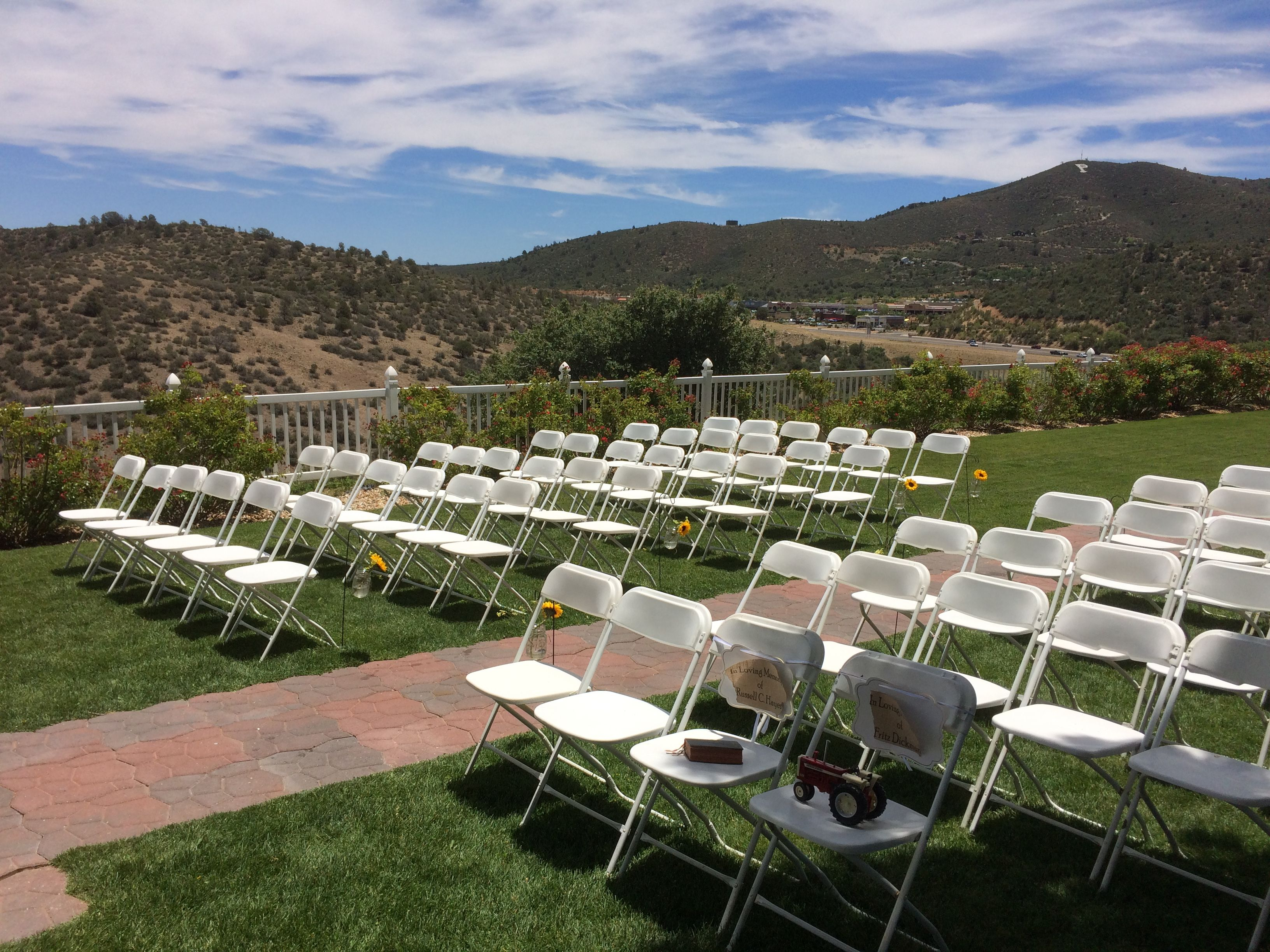 Great View Of The Mountains In Prescott Arizona At Resort And Conference Center June Venue Was Set Up For A Wedding Ceremony