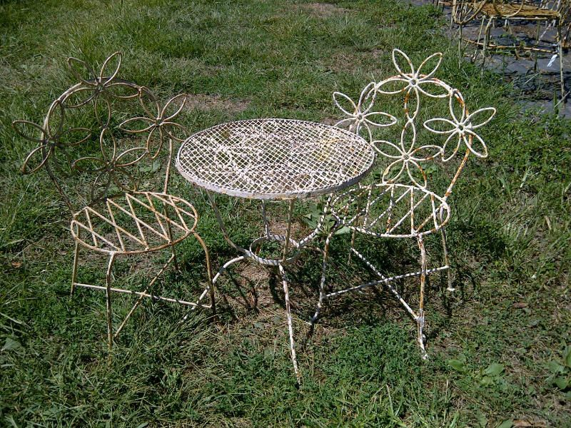 Wrought Iron Daisy Children S Furniture Patio Table Patio Table