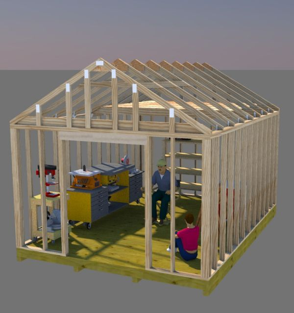 Build your perfect workshop shed using these 12x16 gable ...