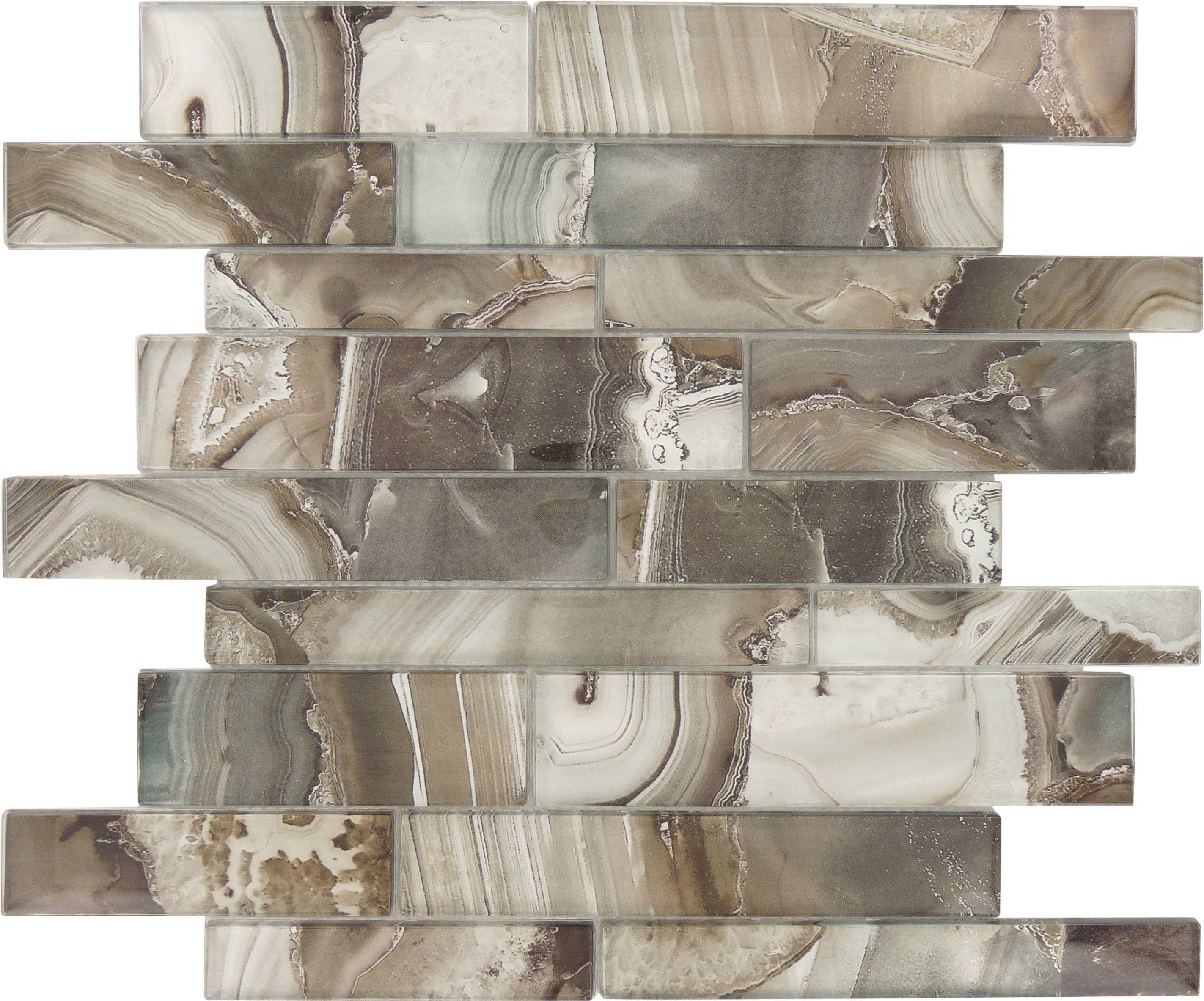 Sheet Size 11 3 4 X 11 3 4 Tile Size Random Tile Thickness 1 4 Nominal Grout Joints 1 8 Sheet Mount Mesh Backed Glass Tile Tiles Brick