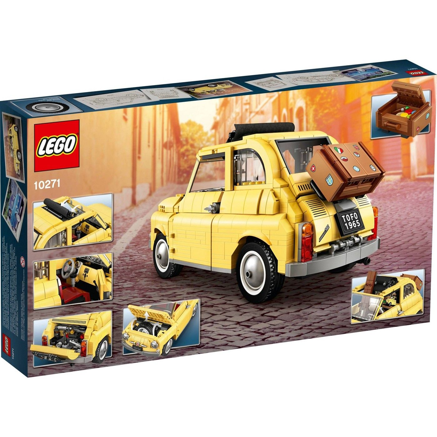 Lego Creator Expert Fiat 500 Toy Car Building Set For Adults Who Love Model Kits 10271 Fiat 500 Lego Creator Toy Car