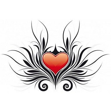 Tatuaje De Corazon Tribal 4 Tribal Heart Tattoos Heart Tattoo Heart Tattoo Designs