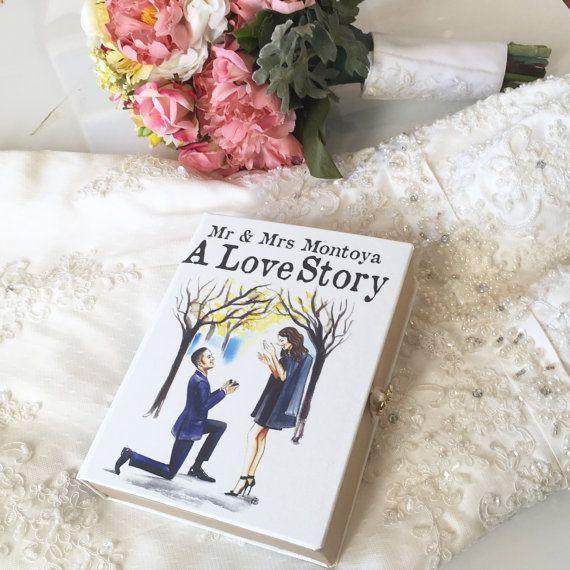Custom Bridal Book Clutch Purse Wedding clutch by chicklitdesigns