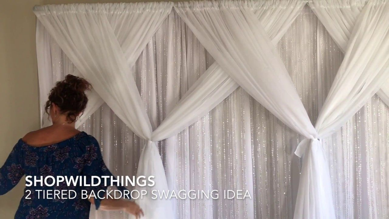 ShopWildThings Free Video How to Swag Pipe and Drape Fabric - YouTube