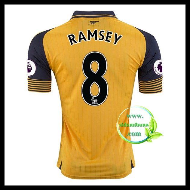 Fotballdrakter Arsenal RAMSEY #8 Bortedraktsett 2016-2017