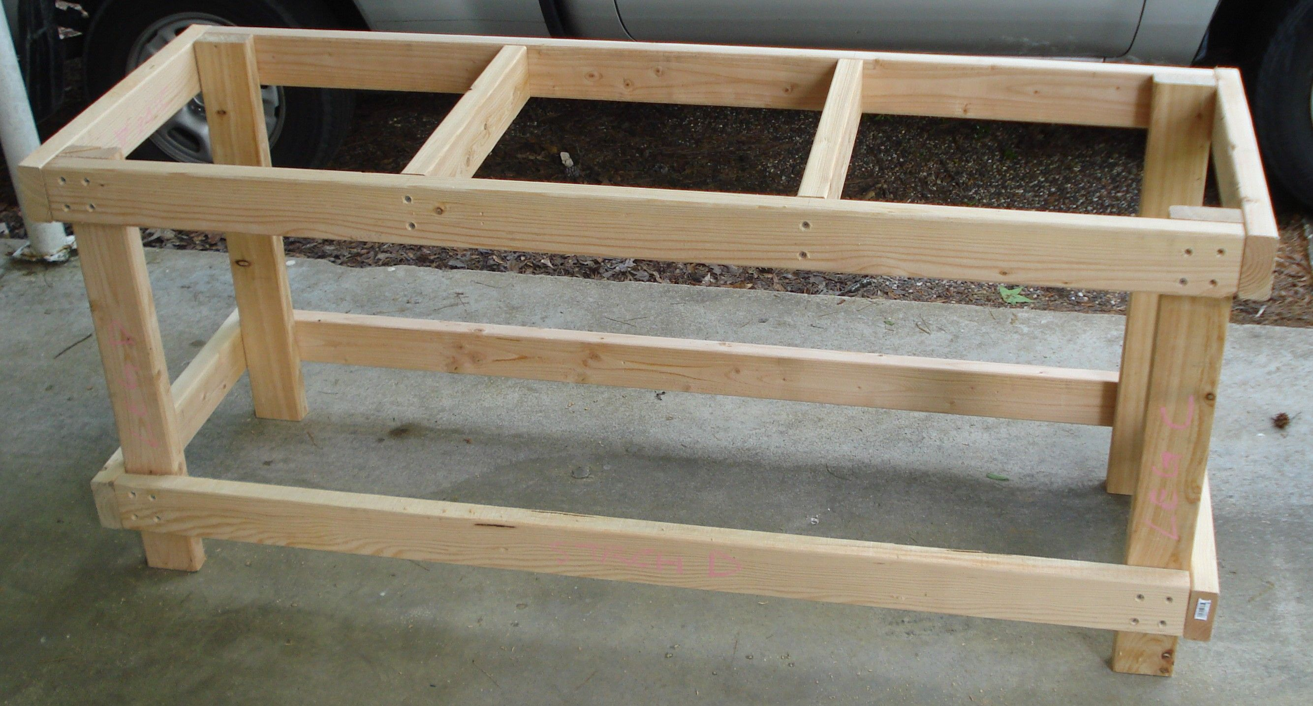 Simple Workbench Plans 2x4 Free Download L Shaped Patio