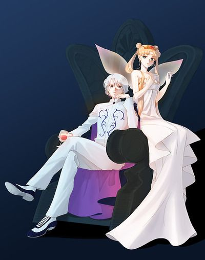 Prince Diamond and Neo-Queen Serenity