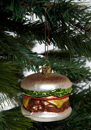 Cheeseburger ornament. Next year Im having a fun tree with ornaments like  this - Winners And Cruisers Sunglasses Christmas :D Pinterest
