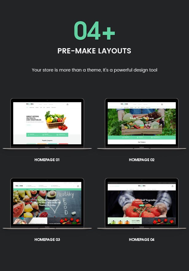 Selena - Organic Food Store Theme for WooCommerce WordPress | Pinterest