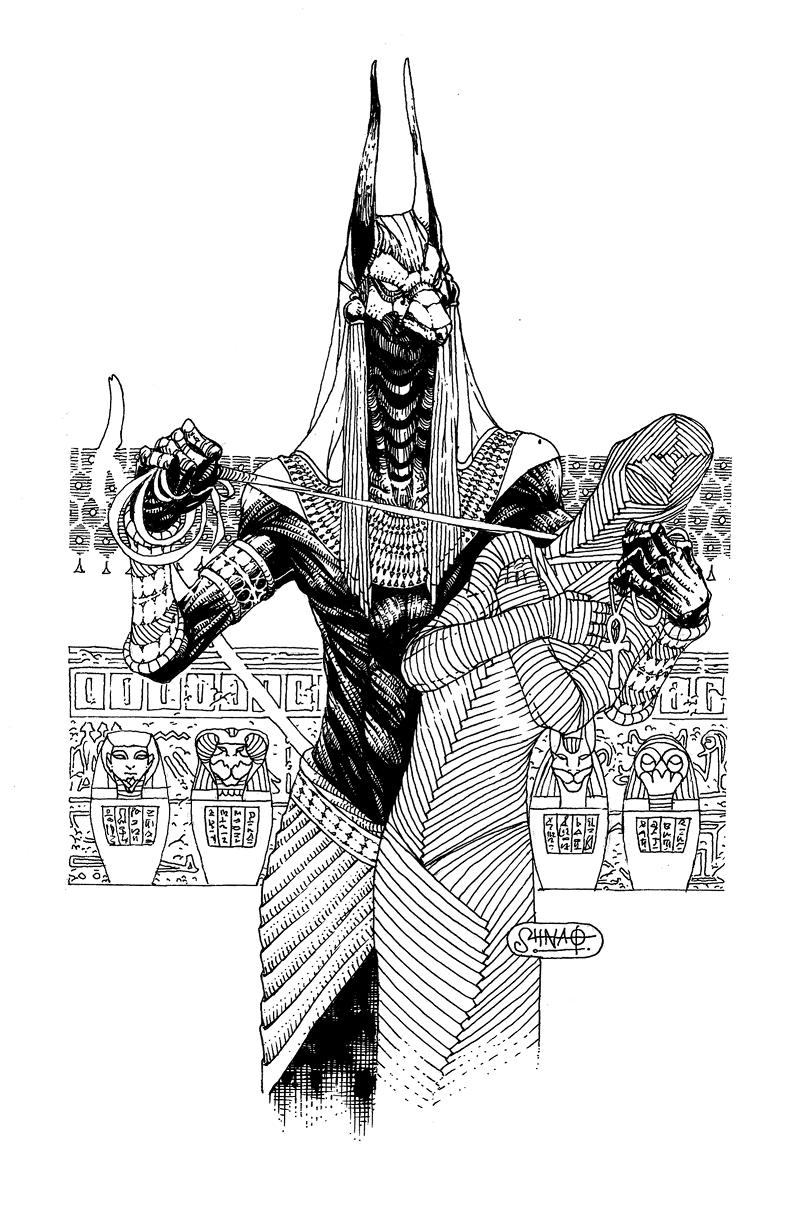 Anubis By Heri Shinato Tatuaggi Egiziani Anubi Idee Per Tatuaggi