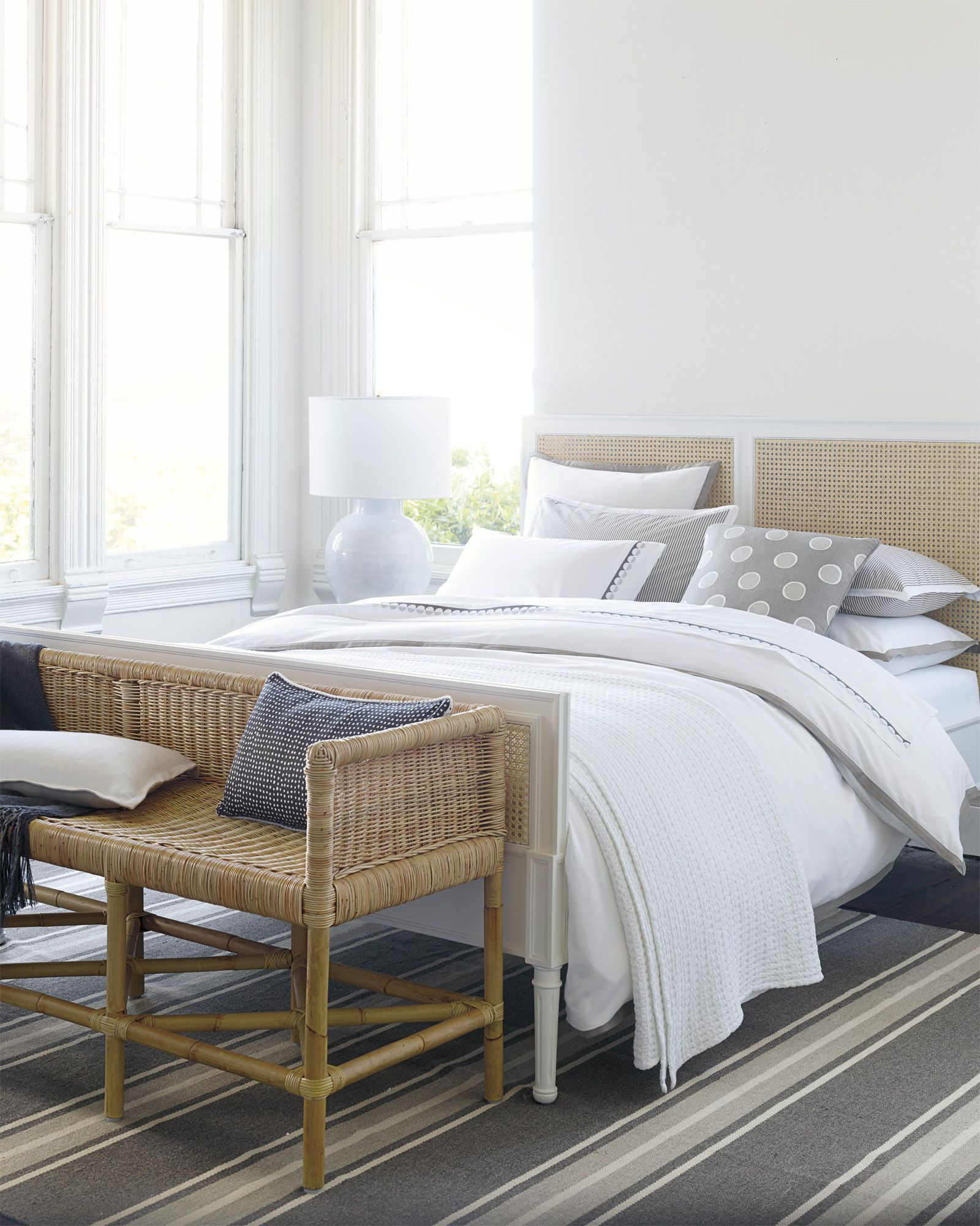 Relaxed Amp In Neutral Harbour Cane Bed Via Serena And