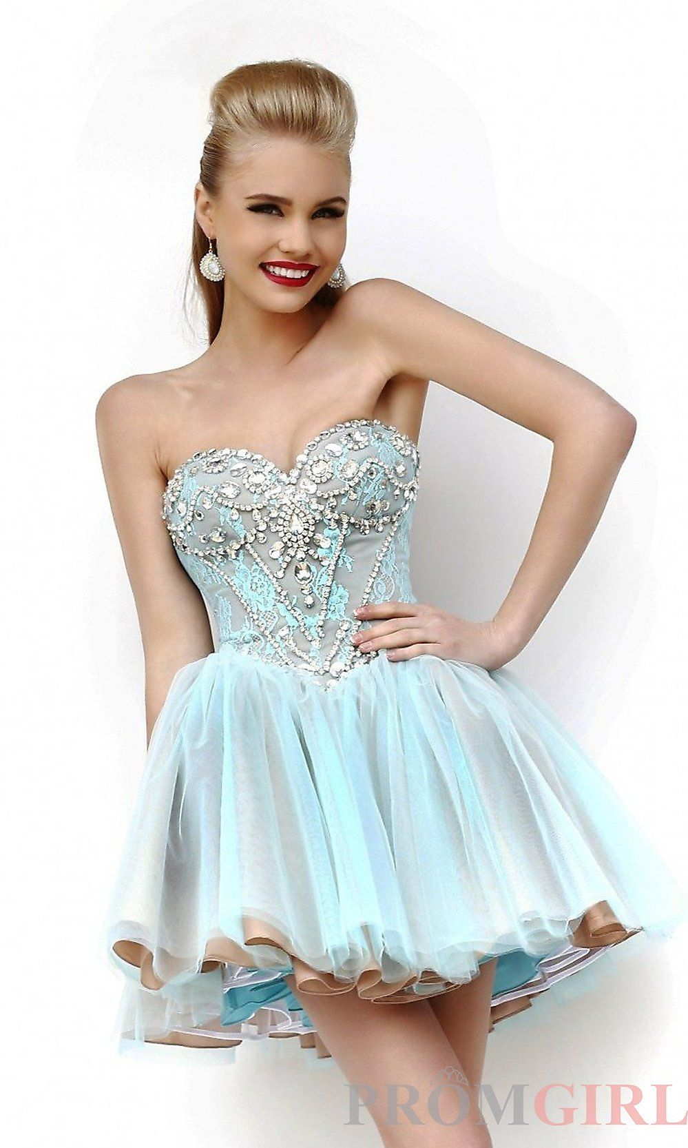 Designer Baby Doll Party Dress, Homecoming Dresses- PromGirl ...