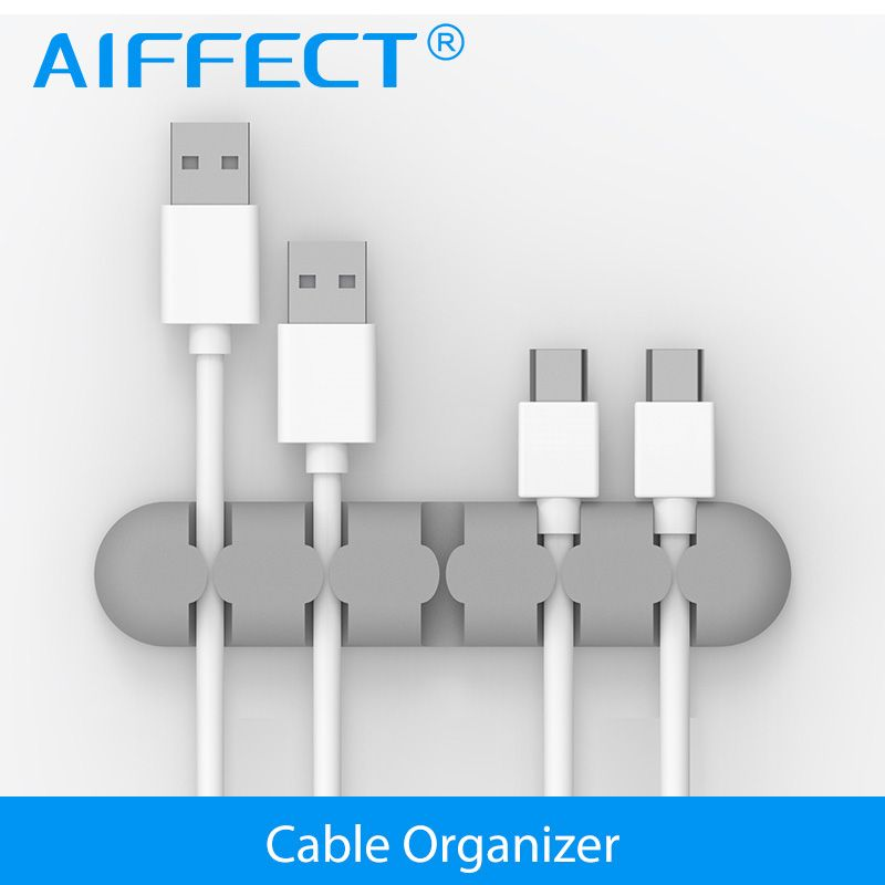 AIFFECT Silicone Cable Winder Plug Holder Cable Organizer Cable