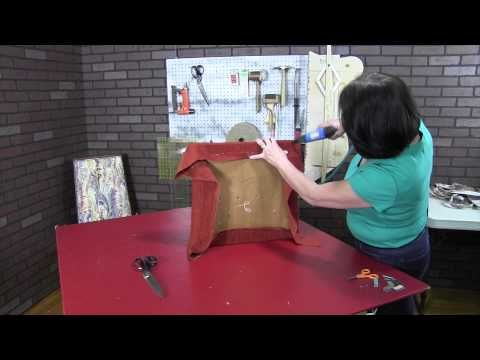 How To Upholster A Dining Room Chair Part 2 - YouTube