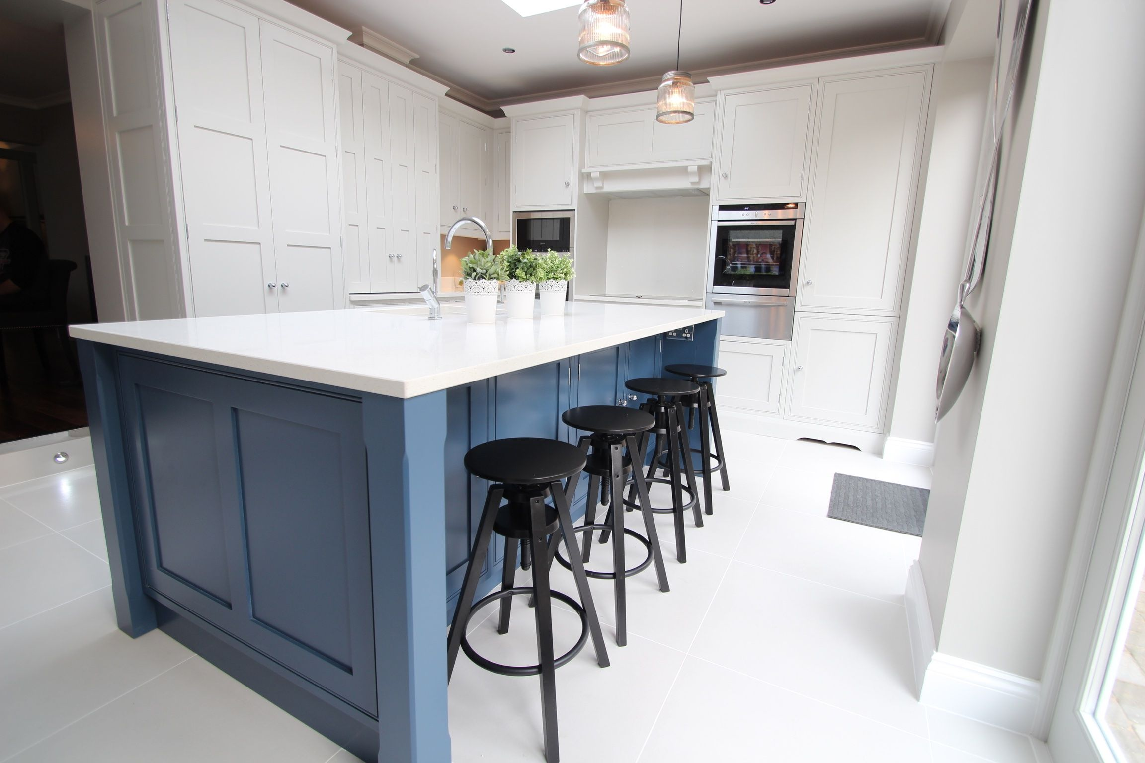 Create a focal point with colour. This blue, handpainted island ...