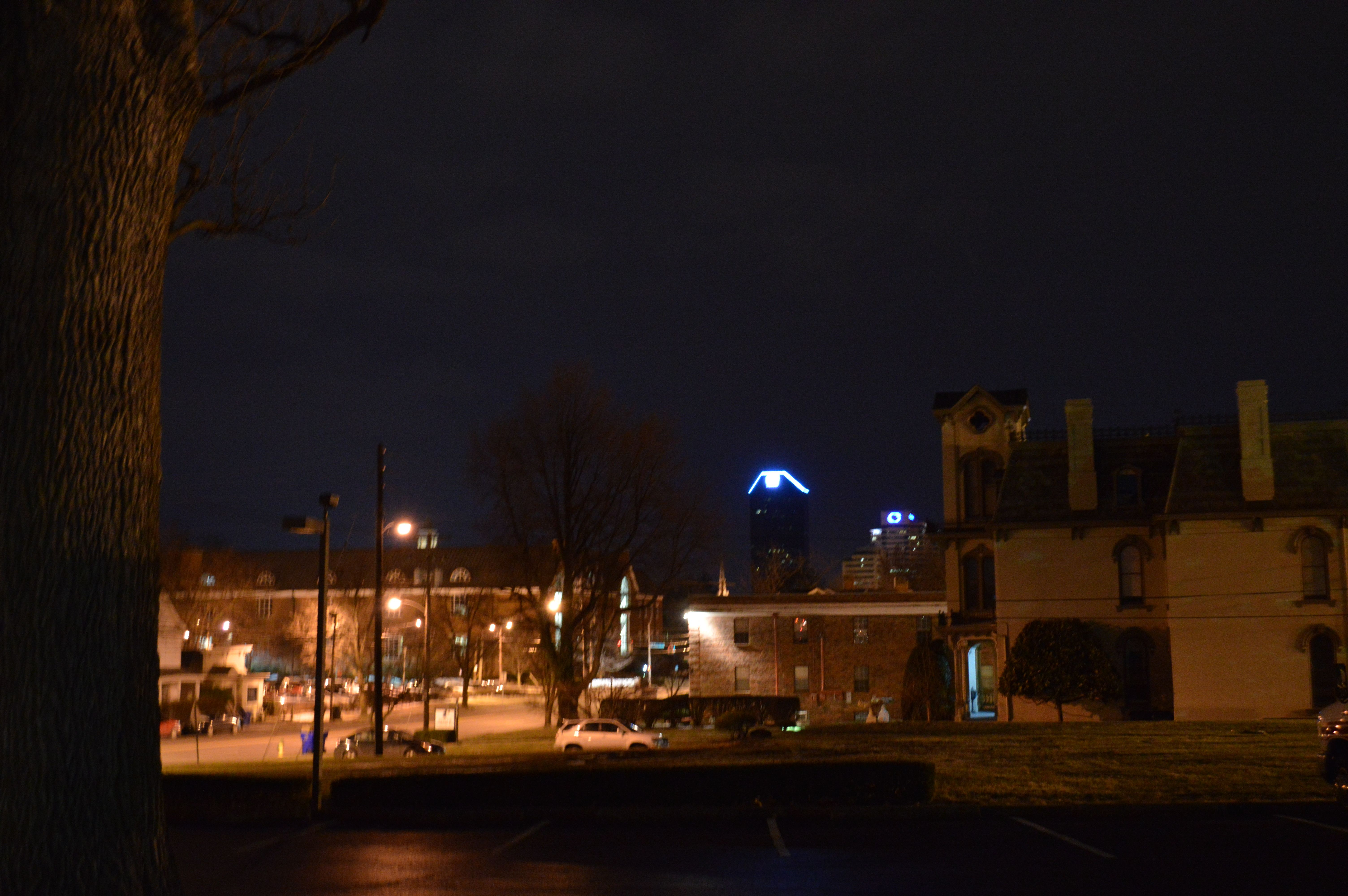 Cityscape at Night 2- wb- incandescent, ss-1/1250, a-f5, ISO-1600