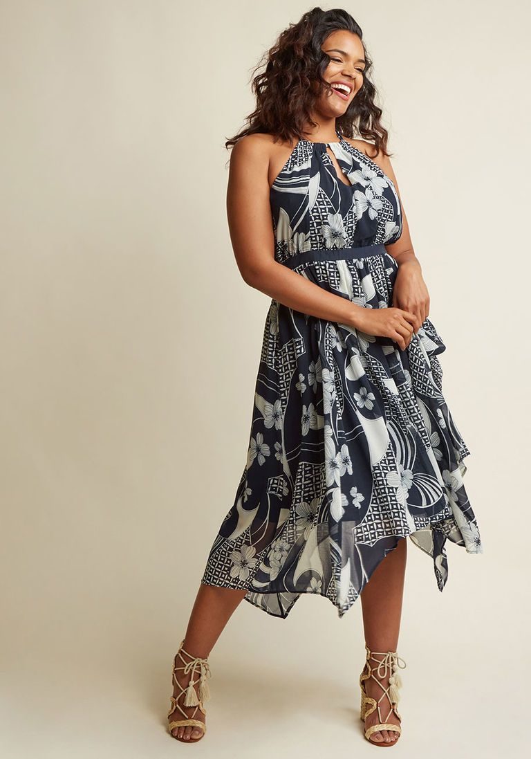 faac4a7d4bc As an Aria Halter Maxi Dress in Floral Patchwork in 3X - Sleeveless A-line  by ModCloth - Plus Sizes Available