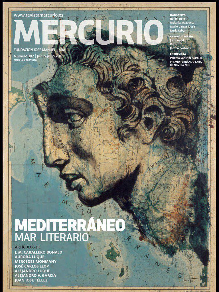 Revista Mercurio - Mediterráneo. Mar literario #mediterraneo, #mercurio #fernandovicente #Atlas #portada #marliterario