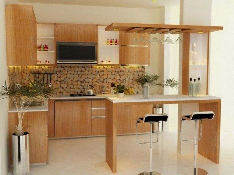 45 Elegant Kitchen Cabinet Simple Kitchen Design Ideas For Small Space Kitchens Kitchen Kitchen Bar Design Small Kitchen Design Photos Simple Kitchen Design