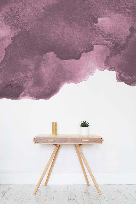 Papier Peint Aquarelle Rose Poudre Murals Wallpaper Living Room Wallpaper Texture Watercolor Wallpaper Watercolor Walls