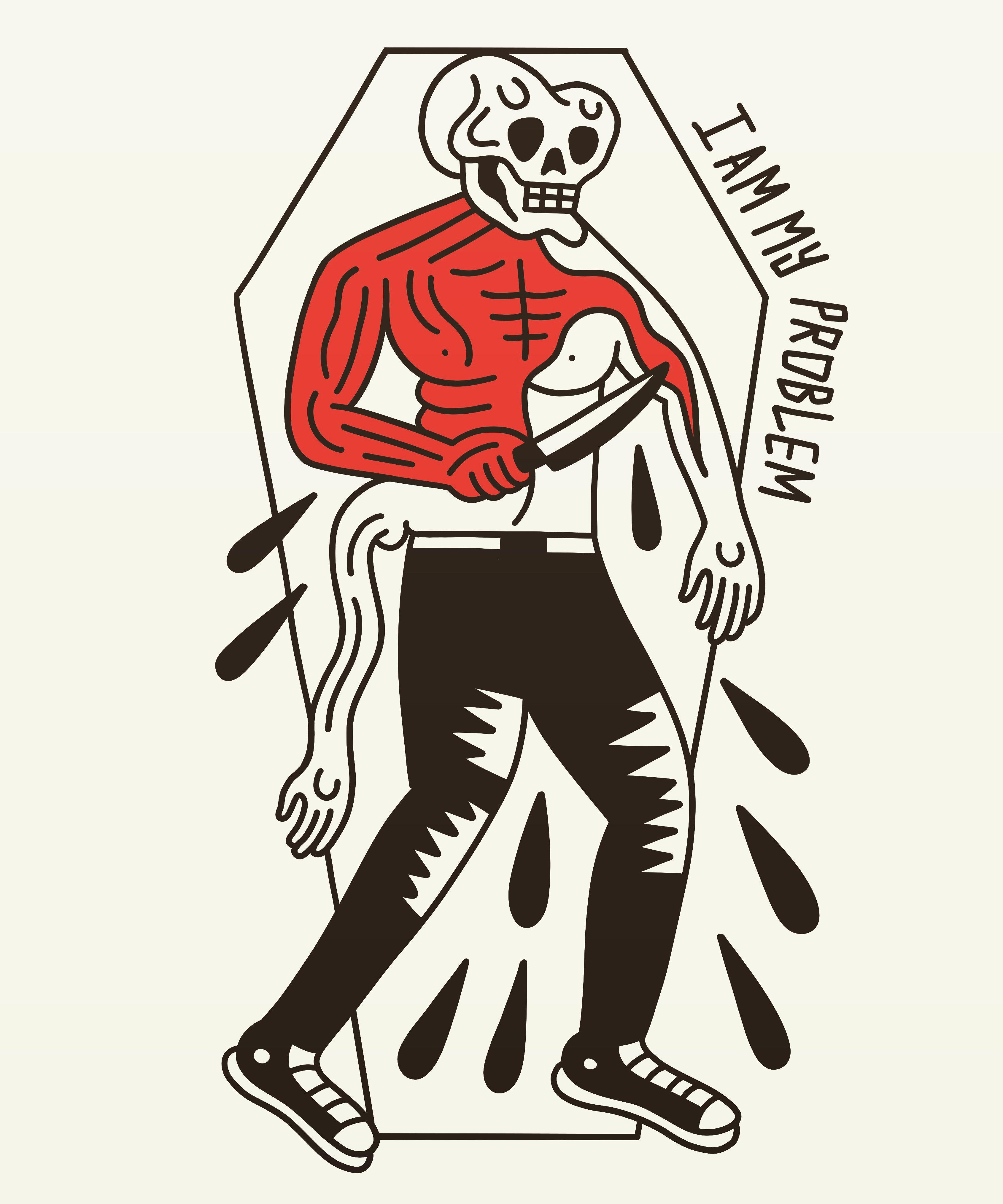 No Him I Bad Drawings Skull Illustration Drawing S