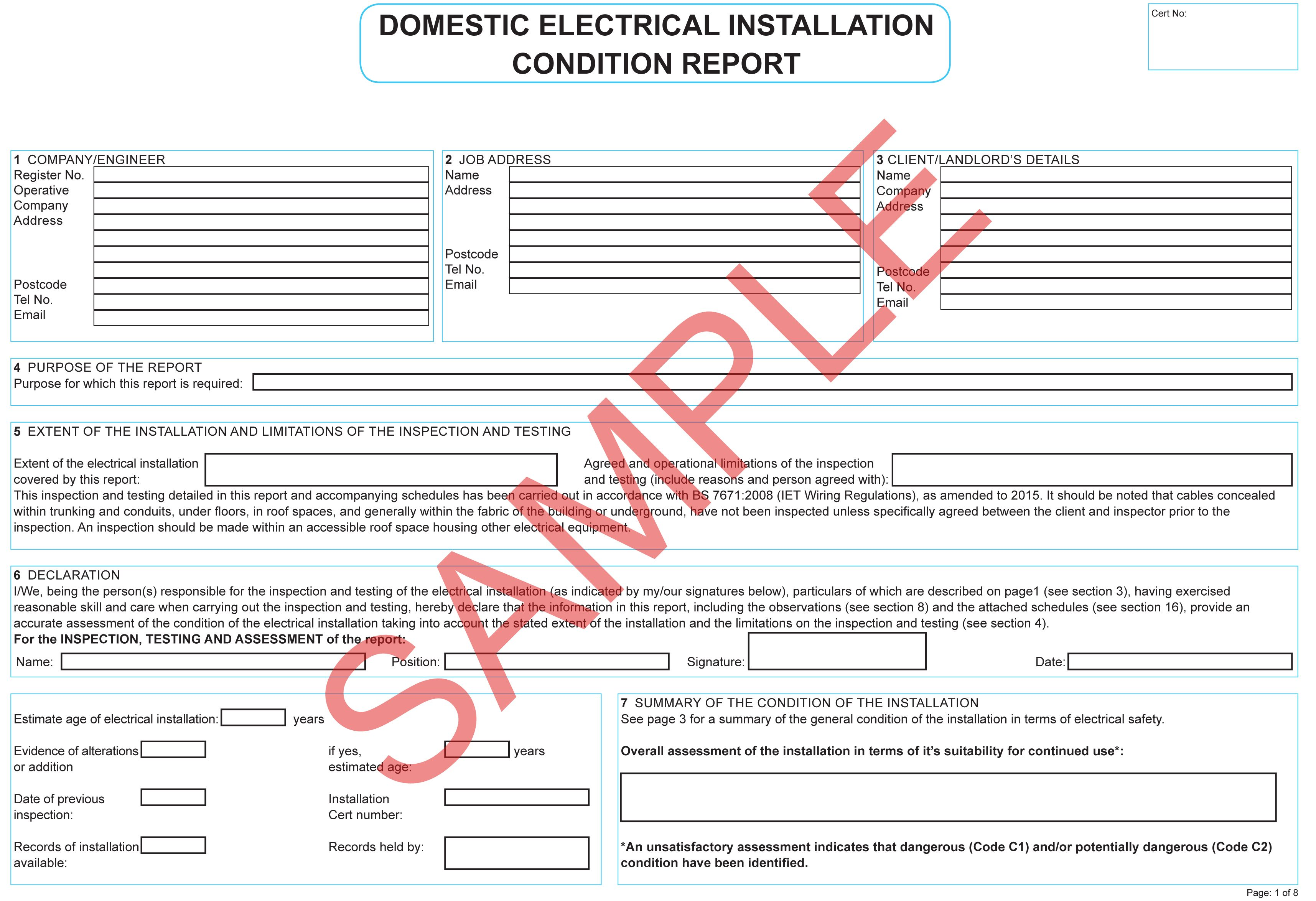Certificates Everycert For Electrical Minor Works With Minor Electrical Installation Wor In 2020 Certificate Templates Business Plan Template Electrical Installation