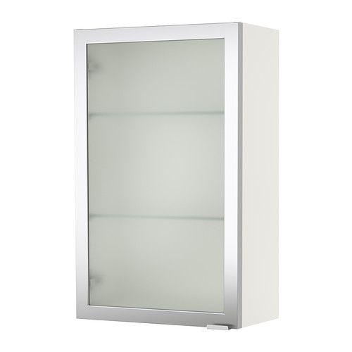 LILLÅNGEN Armari de paret - blanc/alumini - IKEA