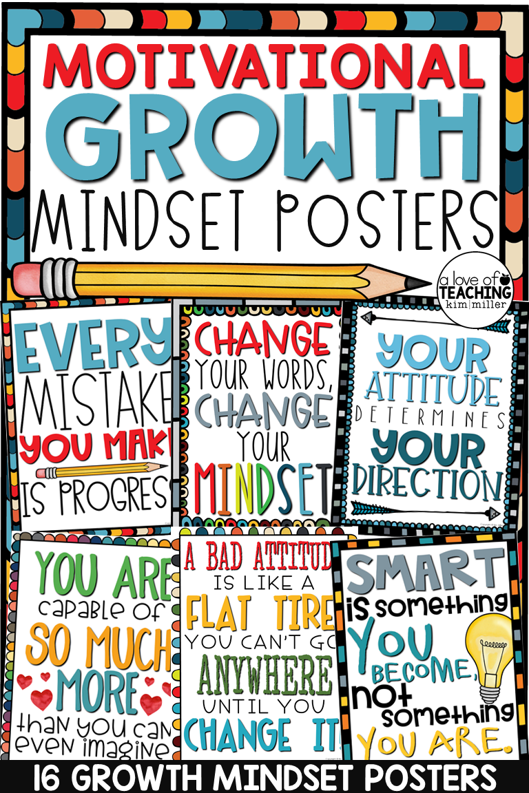 Growth Mindset Posters Motivational Posters Classroom Decor With Images Growth Mindset Posters Growth Mindset Classroom Classroom Motivational Posters