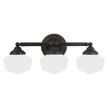 Sea Gull Lighting Academy Three Light Bath Sconce - Heirloom Bronze : Target