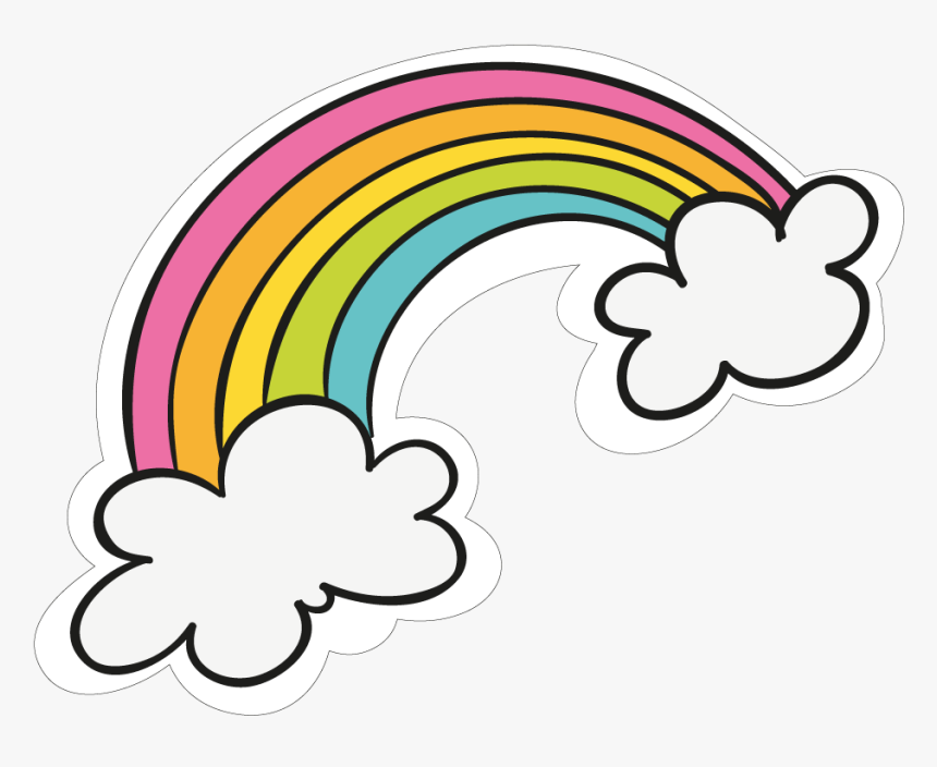 Cloud Rainbow Clipart Png In 2020 Rainbow Clipart Rainbow Cartoon Rainbow Stickers