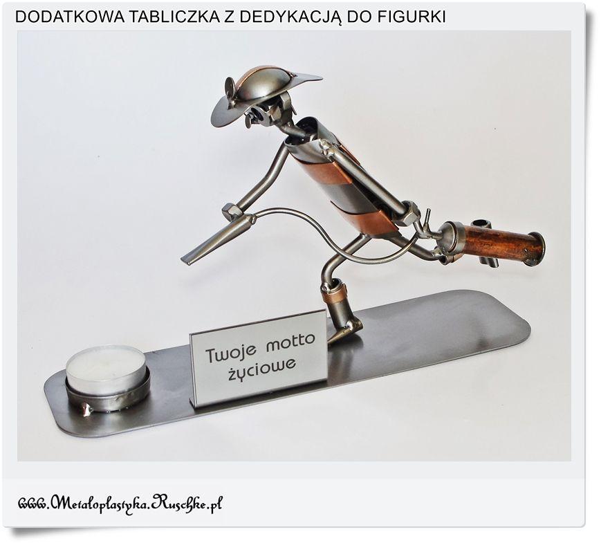 Metalowa Tabliczka Do Figurki Na Prezent