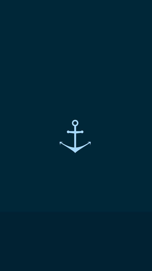 navy blue iphone wallpaper blue navy anchor illustration flat iphone 5 wallpaper 8161